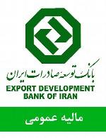 سوالات مالیه عمومی استخدامی بانک توسعه صادرات ایران