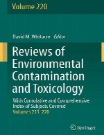 بررسی آلودگی محیطی و سم شناسی – جلد 220Reviews of Environmental Contamination and Toxicology - Volume 220
