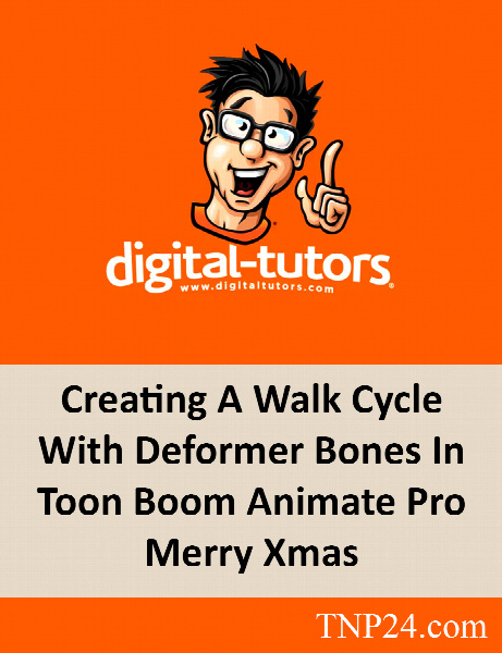 آموزش ایجاد سیکل راه رفتن کاراکترهای دو بعدی بوسیله Toon Boom Animate / Digital Tutors Creating A Walk Cycle With Deformer Bones In Toon Boom Animate Pro Merry Xmas