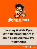 آموزش ایجاد سیکل راه رفتن کاراکترهای دو بعدی بوسیله Toon Boom AnimateDigital Tutors Creating A Walk Cycle With Deformer Bones In Toon Boom Animate Pro Merry Xmas