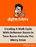 آموزش ایجاد سیکل راه رفتن کاراکترهای دو بعدی بوسیله Toon Boom AnimateDigital Tutors Creating A Walk Cycle With Deformer Bones In Toon Boom Animate Pro Merry Xmas