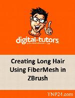 آموزش چگونگی طراحی سریع ،موی سر بلند در ZbrushDigital Tutors Creating Long Hair Using FiberMesh in ZBrush