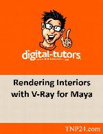 آموزش تکنیک های نورپردازی نمای داخلی یک ساختمان و رندر در مایاDigital Tutors Rendering Interiors with V-Ray for Maya