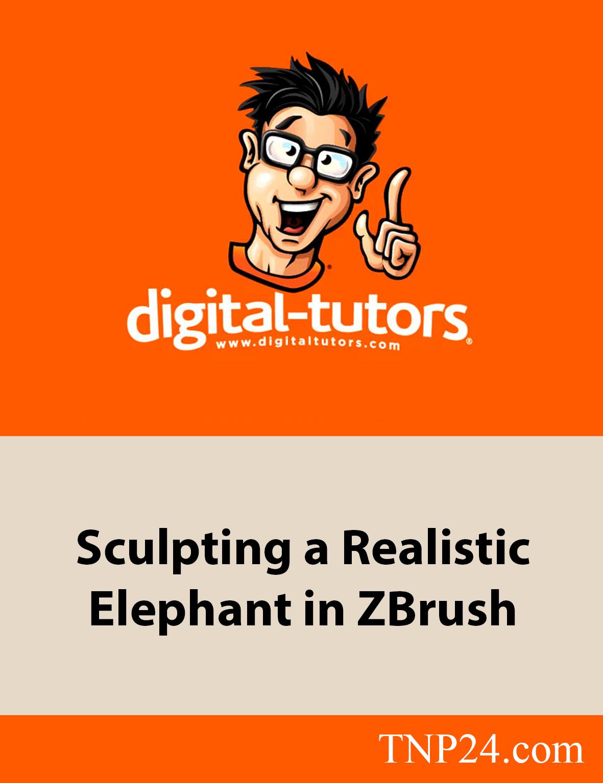 آموزش مدلسازی و حجاری یک کاراکتر فیل بر اساس تصاویر مرجع با نرم افزار ZBrushDigital Tutors Sculpting a Realistic Elephant in ZBrush