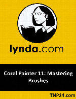 آموزش کار کردن حرفه ای با  Brushesدر Corel Painter 11Lynda Corel Painter 11: Mastering Brushes