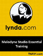 آموزش استفاده از نرم افزار  MelodyneLynda Melodyne Studio Essential Training