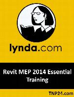 آموزشی نرم افزار Revit MEP برای ایجاد نقشه های تاسیساتLynda Revit MEP 2014 Essential Training