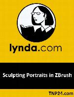 آموزش شباهت مجسمه سازی در نرم افزار زدبراشLynda Sculpting Portraits in ZBrush