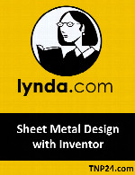 آموزش Autodesk InventorLynda Sheet Metal Design with Inventor
