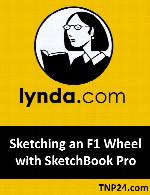 آموزش طراحی و نقاشی در Sketchbook ProLynda Sketching an F1 Wheel with SketchBook Pro