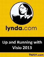 آکوزش کار یا نرم افزار  VisioLynda Up and Running with Visio 2013