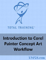 آموزش چگونگی کار با نرم افزار Corel PainterTotal Training Introduction to Corel Painter Concept Art Workflow