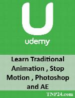 آموزش معرفی ابزار های مهم و قدرتمند جهت شروع به کار در فتوشاپ و افترافکتUdemy Learn Traditional Animation , Stop Motion , Photoshop and AE
