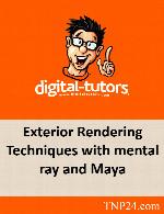 آموزش تکنیک های رندرینگ نمای بیرونی با منتال ری و مایاDigital Tutors Exterior Rendering Techniques with mental ray and Maya