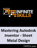 آموزش نحوه پیکربندی طرح ها و مدلها در نرم افزار InventorInfiniteSkills Mastering Autodesk Inventor - Sheet Metal Design