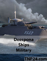 Deespona Ships Military 3D Objects