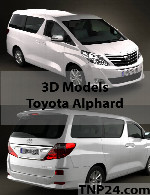 Toyota Alphard 3D Object