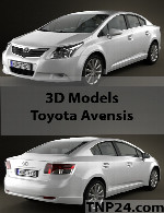 Toyota Avensis 3D Model