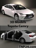 مدل سه بعدی تویوتا کمریToyota Camry 3D Object
