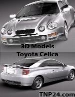 مدل سه بعدی  تویوتا سلیکاToyota Celica 3D Object