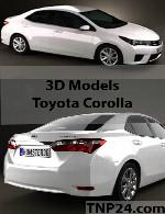 مدل سه بعدی تویوتا کرولاToyota Corolla 3D Object