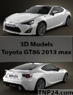 مدل سه بعدی تویوتا جی تی 86 2013Toyota GT86 2013 3D Object