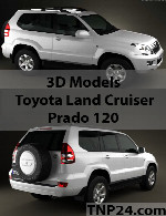 Toyota Land Cruiser Prado 120 3D Object