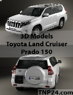 Toyota Land Cruiser Prado 150 3D Object