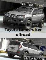 Toyota Landcruiser offroad 3D Object