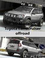 مدل سه بعدی  تویوتا لند کروزر آفرودToyota Landcruiser offroad 3D Object