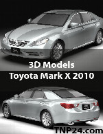 Toyota Mark X 2010 3D Object