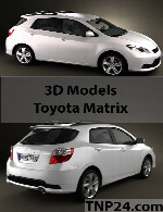 Toyota Matrix 3D Object