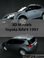 مدل سه بعدی تویوتا آر ای وی 4- 1997Toyota RAV4 1997 3D Object