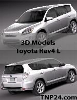 مدل سه بعدی تویوتا آر ای وی 4-الToyota Rav4 L 3D Object