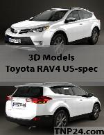 مدل سه بعدی تویوتا آر ای وی 4 یو اس اسپکToyota RAV4 US-spec 3D Object