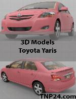 مدل سه بعدی تویوتا یاریسToyota Yaris 3D Object