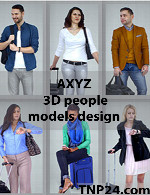 AXYZ 3D People Models Design