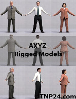 AXYZ 30 Rigged Models