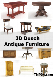 داچ 3D میز و مبل آنتیکDosch 3D - Antique Furniture