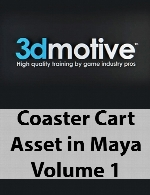 3DMotive - Coaster Cart Asset in Maya Volume 1