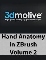 3DMotive - Hand Anatomy in ZBrush Volume 2