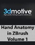 3DMotive - Hand Anatomy in ZBrush Volume 1