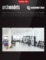 آرک مدل شماره 169 شامل وسایل باشگاهی و بدن سازیEvermotion Archmodel Vol 169