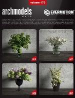 آرک مدل شماره 173 شامل گیاهان خانگی در گلدانEvermotion Archmodel Vol 173