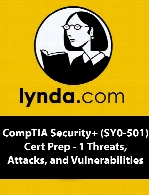 آموزش امنیت کامپتیاLynda - CompTIA Security+ (SY0-501) Cert Prep - 1 Threats, Attacks, and Vulnerabilities