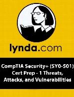 آموزش امنیت کامپتیاLynda - CompTIA Security+ (SY0-501) Cert Prep - 1 Threats, Attacks, and Vulnerabilities