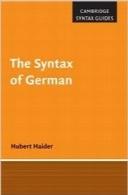 علم نحو زبان آلمانیThe Syntax of German (Cambridge Syntax Guides)