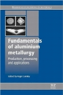 اصول متالورژی آلومینیوم؛ تولید، فرآوری و کاربردهاFundamentals of Aluminium Metallurgy: Production, Processing and Applications