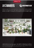 مدل های آماده گیاهان و گلدانهای زیبا برای صحنه داخلیEvermotion Archmodel Vol 141
