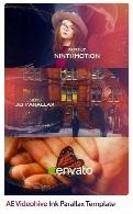 پروژه آماده افترافکت قالب آماده اسلاید شو با افکت پارالاکس جوهری از ویدئوهایوVideohive Ink Parallax After Effect Tutorial